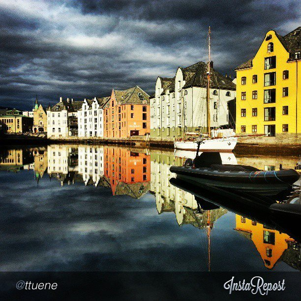 Entertainment The beautiful Art Nouveau town of Ålesund captured by @ttuene on Instagram via #fjordnorway. 