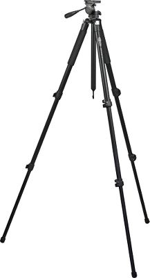 Entertainment Lightweight and extremely stable, Meoptas Spotting Scope Tripod comes equipped with a two-way head for long-distance observation. The head allows smooth, vibration-free panning and tilt action. Three-section legs and a center riser extend the tripod to 70 tall. Leg pivots adjust to different angles for easy leveling on uneven surfaces. Hang a weight on the center hook for additional stability. Folds to 26 long for easy transport and storage. - $299.99