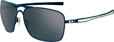 The style of the Oakley Plaintiff Squared Polarized sunglasses harkens back to the 50s, and the color-filled stems maintain a modern look. The frames, made of C-5, an ultralightweight high-modulus material, offer a comfortable, three-point fit that holds lenses in precise optical alignment. Titanium-built Mono Shock hinges allow the stems to hyper-flex when necessary. The lenses are equipped with an 8.75 base curvature, a contour that delivers a sleek new look and extended side coverage. The glare-stopping power of the premium HD polarized lenses reduces and tunes light transmission with Iridium lens coatings. Plutonite, Oakleys proprietary polycarbonate lens material, inherently blocks 100% of all UVA, UVB, UVC and harmful blue light. This durable and lightweight material and our innovative XYZ Optics provide startling center-to-peripheral optical clarity. Made in USA. Size: One Size. Color: Blue. - $200.00