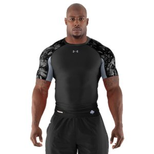 Fitness For The Most Important Job Interview Of Your Life. This is the authentic technical gear worn by the elite competitors at the NFL Combine. Ultra-light fabrics, ventilation where you need it, and some of the latest UA technologies. Simply put, it's designed so you can cut quicker, jump higher, and shave seconds off your time. Part of the NFL Combine Authentic CollectionSmooth fabric provides extreme comfort and compression without restrictionStretch-mesh panels provide strategic ventilation 4-way stretch fabrication allows greater mobility and maintains shapeSignature Moisture Transport System wicks sweat away from the body Anti-odor technology prevents the growth of odor causing microbesSmooth, chafe-free flatlock seam constructionPolyester/ElastaneImported - $25.99