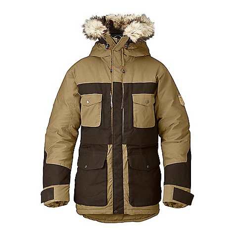 Free Shipping. Fjallraven Men's Arktis Parka FEATURES of the Fjallraven Men's Arktis Parka Ice fishing parka with the optimal hardwearing and functional combination of G-1000 Original and G-1000 HD 2 large zipper storage pockets at chest big enough to fit a 1 liter thermos, 2 smaller chest pockets with press button closure Inside there are 2 large stretch mesh storage pockets, 1 media pocket with zipper, napoleon pocket for easy access to equipment or phone with out opening the jacket Leather details - $849.95