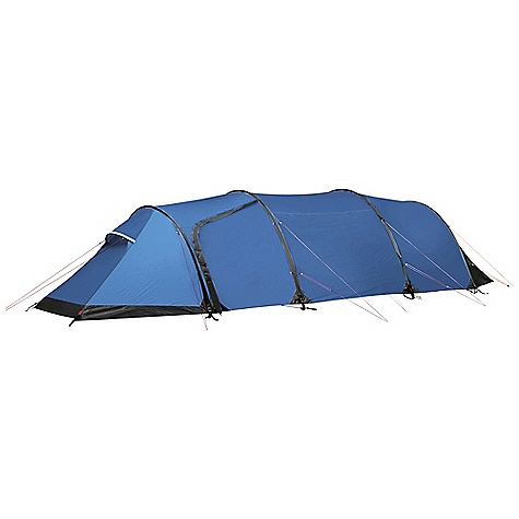 Camp and Hike Free Shipping. Fjallraven Akka Endurance 4 Person Tent DECENT FEATURES of the Fjallraven Akka Endurance 4 Person Tent Silicone treated polyester outer fabric with 4,000 mm water column PU coated taffetta polyamide floor fabric with 10,000 mm water column Reinforcement fabric located on both ends of tent Large vestibule has two doors, one on each side Smaller vestibule has one door in center Reflective door markings 2 mm reflective guylines Attachment points on outer tent for Nunjes Tarp Attachment points for Gear Loft, Gear Pockets and Organizer Wall The SPECS Capacity: 4 person Weight: 5900 g Construction: Tunnel Outer: 30D Triple-Rip Polyester, both sides siliconized Inner: 30D Ripstop polyamide water resistant Floor: 100% polyamide Mosquito Net: Polyester mesh Poles: Aluminum 7075-T9, 4 x 10.2 mm Pegs: Y-pegs Stuffed Size: 22 x 54 cm - $899.95