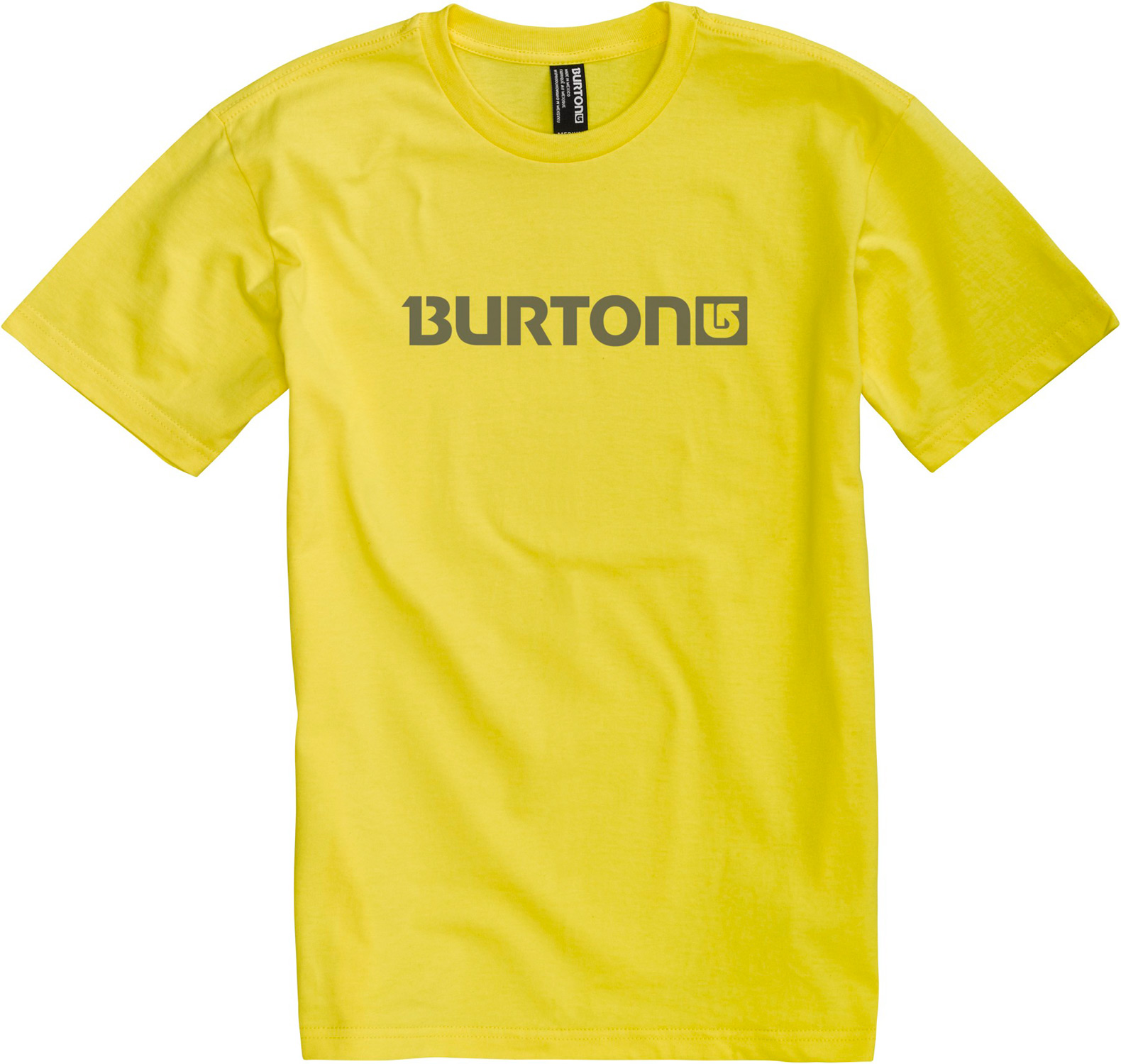 Snowboard Key Features of The Burton Logo Horizontal T-Shirt: Regular Fit Crew Neck Short Sleeve 100% Cotton Regular Fit Screen Print on Front and Back - $12.95