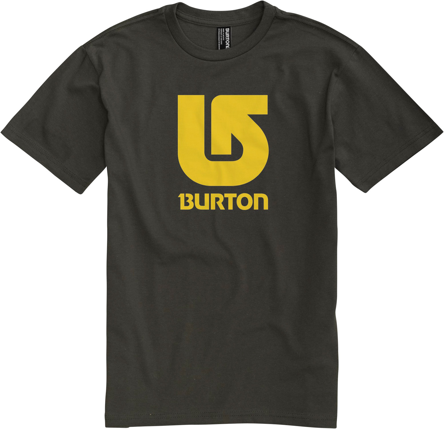 Snowboard Key Features of The Burton Logo Vertical T-Shirt: Regular Fit Crew Neck Short Sleeve 100% Cotton Screen Print on Front and Back Regular Fit XS-XL - $15.95