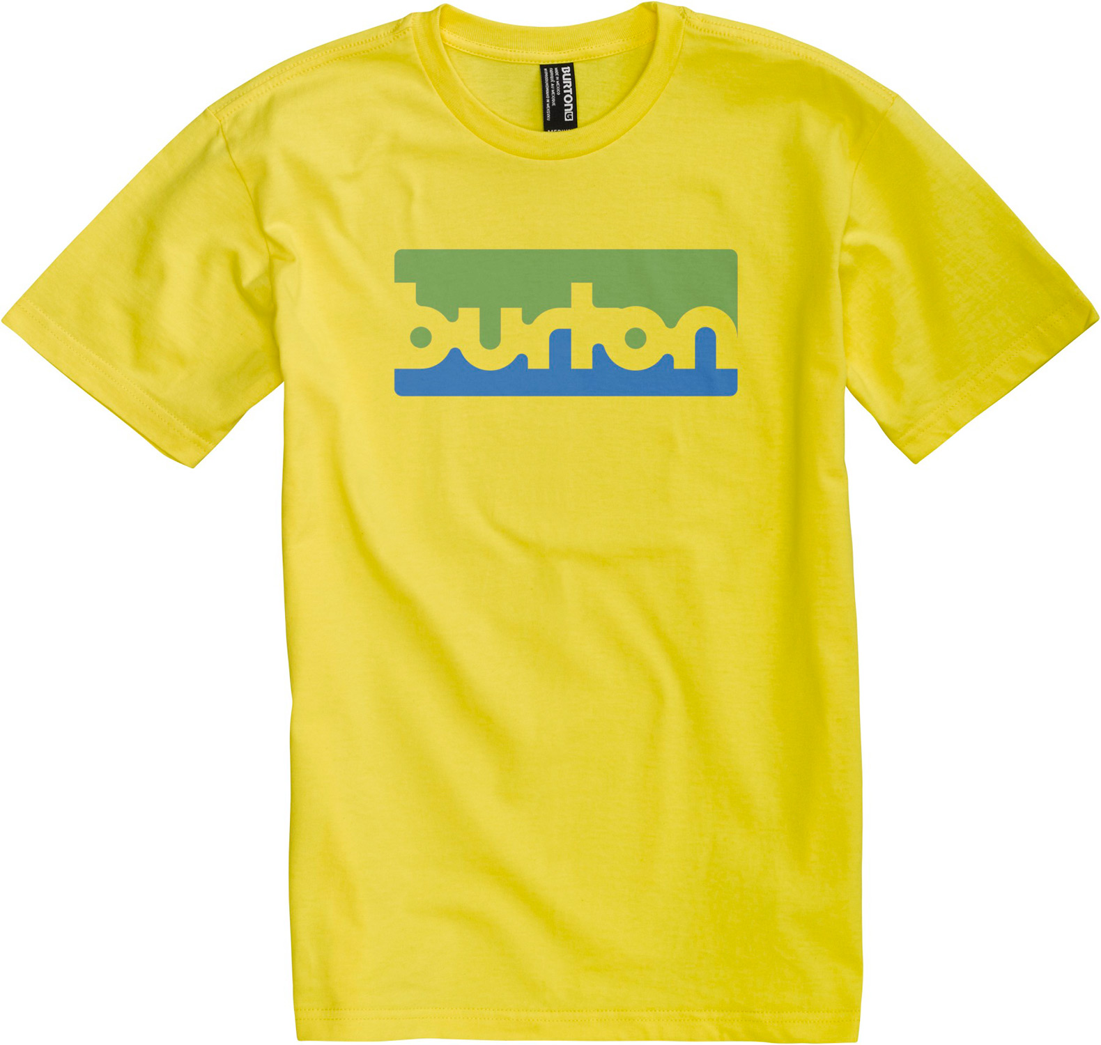 Snowboard This Burton Transmission T-Shirt features short-sleeves crew neck. It looks bright and fresh and will attract attention wherever you go. It is perfect for active individuals. It is screen printed on both the front and the back. You can't go wrong with this shirt. This graphic T-shirt is an essential item to have in your collection.  Regular Fit   Crew Neck   Short Sleeve   90% cotton/10% polyester [Athletic Heather]   100% cotton   Screen print on front and back   Regular fit - $12.95