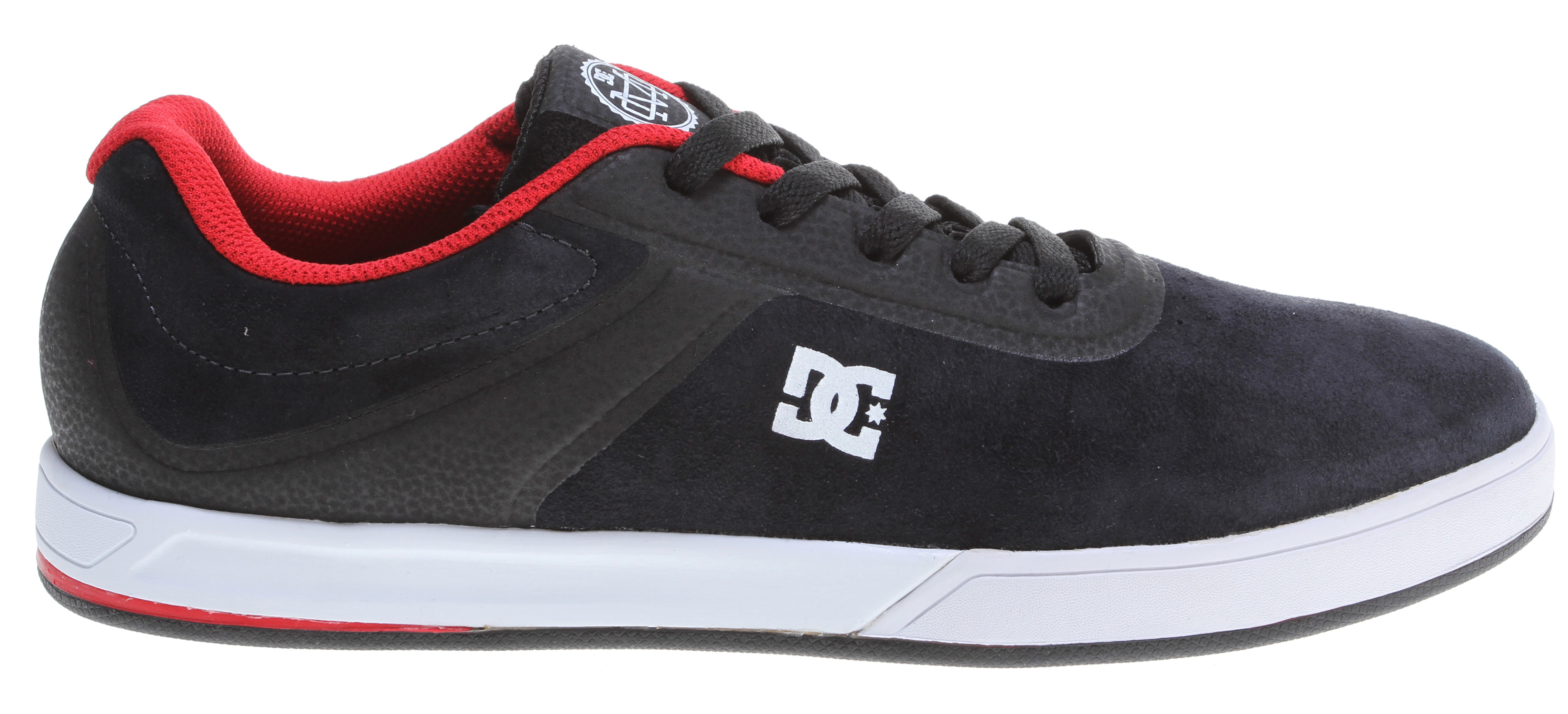 Skateboard Mike Mo Capaldi's first signature DC shoe model. It features a no-sew upper, TPU backed super suede upper, TPU reinforced eyebrow and heel counter, open mesh tongue, and vent holes for maximum breathability. A foam padded collar and rolled edge along with an internal mesh sleeve allow for comfort and superior fit. Also comes with an ortholite sockliner, unilite midsole and constructed using cupsole technology. Imported. - $54.95