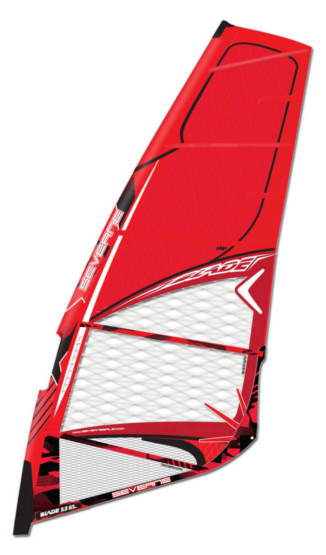 FULL X-PLY WAVE SAIL DESIGNED TO CREATE THE PERFECT BLEND BETWEEN POWER AND CONTROL. This sail drives power down through the board for increased drive, full rail turns and maximum control. The BLADE features a function driven panel layout and is engineered from technical laminates to increase strength and reduce the weight. 2013 updates to further increase the strength and reduce the weight include; the elimination of all aesthetic mark cloth, less seams and reduced patching due to the introduction of SpiderFibre. Increased manoeuvrability and reduced weight may tempt the most hardcore of S-I riders to consider the BLADE as their 5 batten wave sail.Key Features of the Severne Blade Windsurf Sail: I00% X-PLY DOUBLE SEAMS. EVERYWHERE. TIME TESTED DURABILITY AND PERFORMANCE TPR KEVLAR ANTI-ABRASION HEAD PATCH: Protects the adjustment webbing and head assembly stitching from wear during rigging, carrying and launching. SEAMLESS HEAD PANEL: This high abrasion area is made from only I panel and does not carry any exposed seams, preventing any potential weak point in this area. As a result, seam creep and seam-related failure have been eliminated. EM3-DURABLE AND LIGHTWEIGHT: eM3 is developed to combine the performance of the e-series cloths with maximum durability. The addition of a 90-degree pre preg polyester scrim has provided unique tear resistant characteristics and the off-axis loads are carried through the 22-degree X-ply fibres. The red and new blue adhesive maintain the UV resistance and tear strength, while the reduced film thickness significantly reduces the weight. The use in the upper panels reduces not only the overall sail weight, but also the swing weight, aiding manoeuvrability and control. Used in the BLADE and in the FREEK. SCRIM: Polyester X-PLY: Polyester GSM: I60.6Igsm DOUBLE SEAMS: All Severne wave sails have 25mm double stitched window seams. The wider, single colour seam tape ensures maximum tear strength and crash resistance SLEEVE POP UP: Enables the mast to be inserted into the top of the boom cut-out, without having to leave your comfortable seat at the foot of the sail. BOOM HEIGHT REFERENCE: Boom height gauge for ease of reference. KS OPTIC X-PLY-TWISTED FIBRE TECHNOLOGY: Twisted Spectra and Aramid fibres give unprecedented strength, while wider spacing maximizes vision. Used in the window areas of selected sails. X-PLY: Spectra and Aramid GSM: 179.03gsm SPIDERFIBRE: A web of fibreglass filament that disburses loads across seams and throughout the body of the sail. By using stronger, lighter fibres and reducing sail patching, we can measurably reduce weight and swing weigh and at the same time, increase strength. TITANIUM CLEW RING: This design reduces clew weight and swing weight. (Half the weight of standard stainless steel clew rings) HD DYNEEMA X-PLY-HEAVY DUTY: The toughest material used in SEVERNE sails. The 'Twisted-Fibre' technology is utilised for maximum tear resistance. Large denier Dyneema fibres are twisted with polyester fibres (resulting in a I200+ denier combination) for unparalleled strength without fibre creep. Tighter fibre spacing and thicker 5mil film add to the durability and the white UV protection ensures longevity. Used in foot panels for bombproof durability. X-PLY: Dyneema and Polyester GSM: 224.86gsm SEAMLESS FOOT CONSTRUCTION: A single panel in the foot area with hidden load patches and zero exposed stitching eliminates seam abrasion and seam creep in this high load area. Maximum durability and minimum weight. MOLDED SOFT EDGE: With recessed grooving, covering any vulnerable stitching the moulded soft edge encloses the hard edge long the foot of the sail and protects the stitching from wear along the board non-skid. MOLDED TACK FAIRING: Protects your board from impact and neatly covers the foot detailing. It incorporates the rope stash pocket for easy storage of your downhaul rope. - $463.95