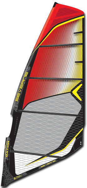 THE GATOR SAIL RANGE COVERS EVERY TYPE OF WINDSURFING CONDITIONS FROM AROUND THE GLOBE. THE CORE PRINCIPLES ARE DURABILITY, MANOEUVRABILITY AND A CONSISTENT FEEL ACROSS ALL SIZES. Every size is designed to echo the demand of the aggressive freeride rider no matter what the wind conditions. The perfect sail for plug and play rigging simplicity combined with lifelong durability. Progressive Geometry: The smaller sizes feature a higher cut foot and geometry biased towards wave and high wind bump and jump. Larger sizes have a lower cut foot to generate more drive in lighter winds but still maintain the light, throw about feel. The most durable GATOR ever. KS Optic X-ply window panel with 20% more strength combined with an HD Dyneema foot panel and a reinforced upper leech create our strongest GATOR to date.Key Features of the Severne Gator Windsurf Sail: NO CAM, CROSSOVER SAIL 100% X-PLY FOR MAXIMUM DURABILITY IN ALL SIZES PROGRESSIVE GEOMETRY – A COHESIVE FEEL BETWEEN SIZES MANOEUVRE ORIENTED TPR KEVLAR ANTI-ABRASION HEAD PATCH: Protects the adjustment webbing and head assembly stitching from wear during rigging, carrying and launching. SEAMLESS HEAD PANEL: This high abrasion area is made from only I panel and does not carry any exposed seams, preventing any potential weak point in this area. As a result, seam creep and seam-related failure have been eliminated. DOUBLE SEAMS: All Severne wave sails have 25mm double stitched window seams. The wider, single colour seam tape ensures maximum tear strength and crash resistance SLEEVE POP UP: Enables the mast to be inserted into the top of the boom cut-out, without having to leave your comfortable seat at the foot of the sail. SEAMLESS FOOT CONSTRUCTION: A single panel in the foot area with hidden load patches and zero exposed stitching eliminates seam abrasion and seam creep in this high load area. Maximum durability and minimum weight. MOLDED TACK FAIRING: Protects your board from impact and neatly covers the foot detailing. It incorporates the rope stash pocket for easy storage of your downhaul rope. 3&4 ROLLER TACK PULLEY: Roller tack pulleys are matched to the sails downhaul requirements and aligned for friction free downhauling and threading ease. Rig your sails with the Severne Hardware Division extensions for function and simplicity. MOLDED SOFT EDGE: With recessed grooving, covering any vulnerable stitching the moulded soft edge encloses the hard edge long the foot of the sail and protects the stitching from wear along the board non-skid. BATTEN ABRASION PROTECTOR: With recessed stitching the Batten Abrasion Protector is stitched onto the cross batten to all larger sizes to avoid the wear of the batten pocket on the inside of the boom arm. KS OPTIC X-PLY-TWISTED FIBRE TECHNOLOGY: Twisted Spectra and Aramid fibres give unprecedented strength, while wider spacing maximizes vision. Used in the window areas of selected sails. X-PLY: Spectra and Aramid GSM: 179.03gsm DROPPED CLEW: The Dropped Clew allows for the reduction of boom and luff lengths; reducing the swing weight, increasing stability and promoting manoeuvrability. - $700.00