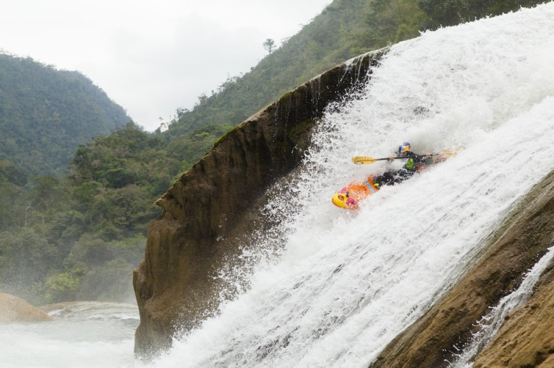 Kayak and Canoe Famed kayakers Rafa Ortiz, Evan Garcia, and Rush Sturges recently became the first people to paddle down the rushing waters of Rio Santo Domingo's waterfalls in one go.
