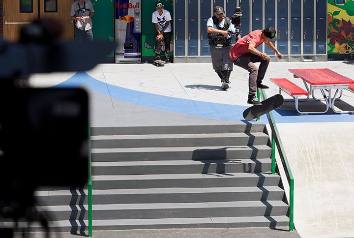 Skateboard Good luck to DC SKATEBOARDING athletes Nyjah Huston, Chris Cole, Mikey Taylor, Matt Miller, Evan Smith, Felipe Gustavo, Tom Schaar, and Jagger Eaton who are competing in X Games Barcelona which starts tomorrow. For details on how you can tune in to watch