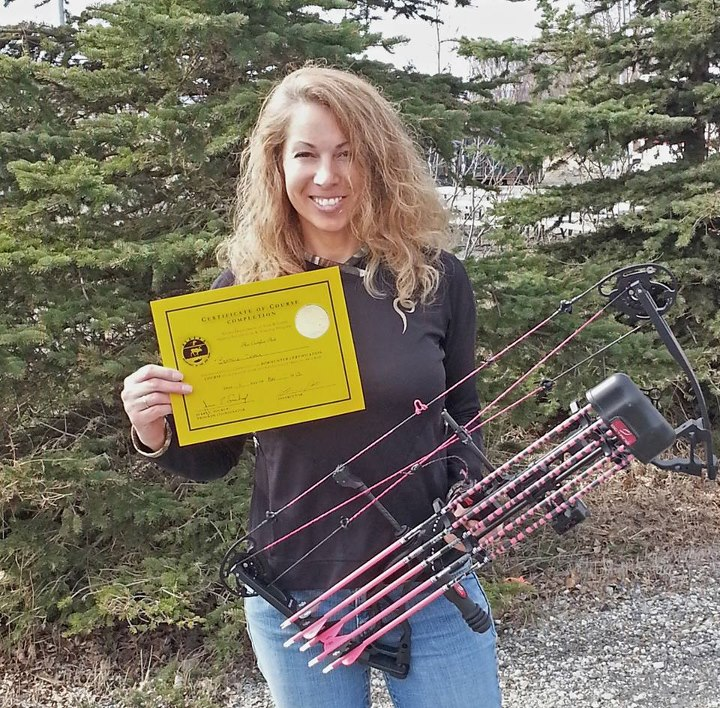"Hunting ""Thank You Bowtech for the Heartbreaker Bow that I won thru the Prois Hardcore Huntress Award! Archery is my newest passion. I am now certified to hunt in Alaska with it. Watch out Yogi and Bullwinkle!"" -Submitted by Ruth Cusack"