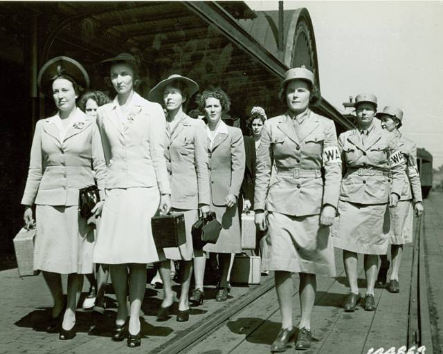 Guns and Military Newly arrived Women's Army Auxiliary Corps recruits, at Fort Des Moines, Iowa, 1942. http://www.army.mil/women/wac.html