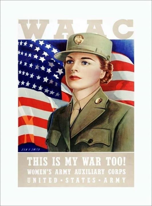 Guns and Military Women's Auxiliary Army Corps Recruiting Poster (AHM Poster Collection) http://www.army.mil/women/wac.html