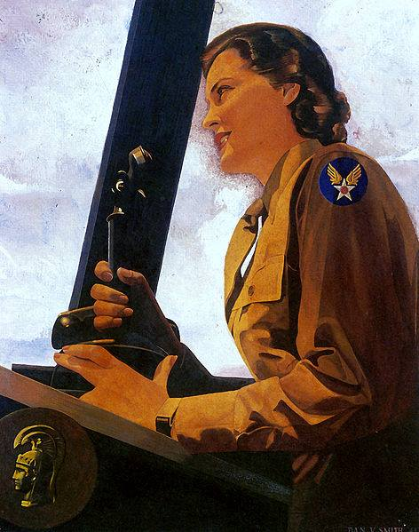 Guns and Military WAC Air Controller by Dan V. Smith, 1943. http://www.army.mil/women/wac.html