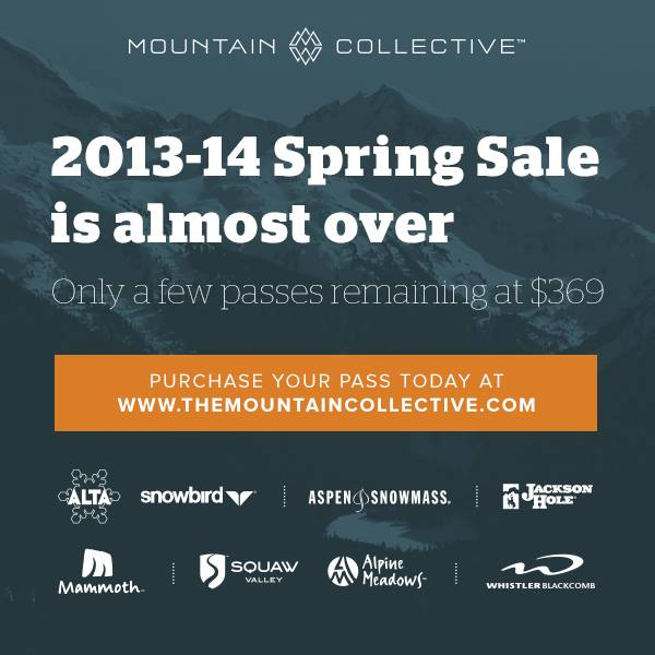 Fitness Don't miss out on buying The Mountain Collective Pass for the 2013/14 season! Only a few passes remain at $369. Get yours while you can! http://bitly.com/TMC201314