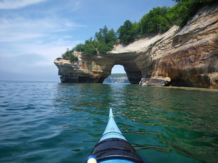 "Kayak and Canoe The ""Paddlers Choice"" sea kayaking adventure at the Pictured Rocks  has got to be one of the best adventures available in the Midwest. Paddling double kayaks along 200ft stained cliffs, sea caves, through a great arch. This is a place to really Experience"
