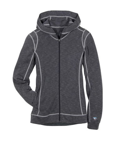 With a UPF of 50, the KUHL MOONGAZER HOODY will keep your skin from too much sun exposure. Experience the night and day difference of KUhlTouch(TM)fabric--soft and breathable, yet remarkably fast drying while it wicks away moisture. Flat lock stiching and contoured hood. - $60.00