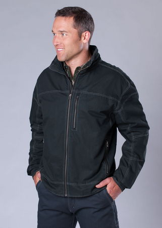 The now classic Kuhl Burr Jacket is a rugged, soft cotton canvas jacket that's ready for anything. Warm, lined, micro fleece vest and supplex lined sleeves for easy on and off.  Timeless style and ultimate versatility.  Read the reviews for this five star jacket! - $55.00