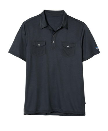 The Kuhl Force Shirt is made with the remarkable new Aerosoft(TM) fabric with tiny air vents and a soft, comfortable feel.  This two pocket polo is an essential  performance piece you can wear every day as a casual short sleeve. UPF 30.  Kuhl signature metal buttons.  2 chest pockets.  Easy care wash and wear. - $45.50
