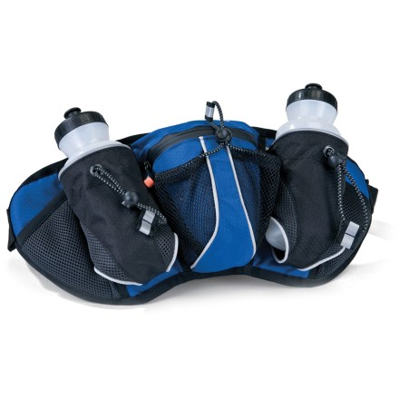 Camp and Hike The key to feeling great on a long run or hike is staying hydrated. The Asolo Twin Agua waistpack holds two water bottles, offering you quick and easy access to your favorite trail drink. - $12.73