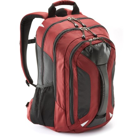 Entertainment The savvy REI Acumen daypack carries your laptop, electronic gadgets, books, folders and lunch. With a simple design and clean style, it's ideal for students, commuters and professionals. - $38.93