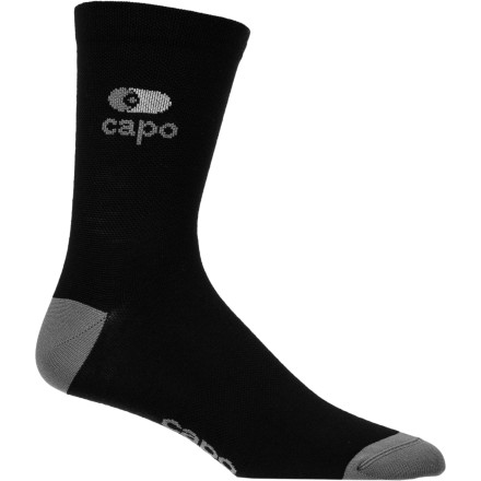 MTB Contrary to popular belief, the right wool is exceedingly comfortable in hot conditions. In fact, it's actually comfortable in every condition. However, the question begs to be asked, what exactly is the 'right wool'' Well, it's New Zealand's Merino wool. And not surprisingly, Capo harnessed the power of this material for its new Euro Seasonal Wool Socks. To achieve this level of conditional flexibility, Capo used a thin-gauged Merino wool for the socks' construction. This eliminates any itch that you might associate with wool. But, now that we know what the Euro socks are made from, let's examine why wool is used in the first place. As we said, the material is non-abrasive, but the benefits don't stop there. Merino wool is what we call a 'hydrophilic' fiber, meaning that it has the natural ability to positively interact with water. In fact, Merino is able to absorb as much as 30 percent of its weight before exuding the sensation of wetness. Additionally, it's naturally antimicrobial, so you'll experience next to no stink from the socks. This property is furthered by Merino's natural ability to disperse electrostatic charges. So, the Euro socks will pick up less dirt, grime, and lint in the first place.In terms of all things 'Euro,' these socks have been aptly named due to their 12cm-high cuff. And unless you've been living in a cave, you've noticed that this is the height du'jour in today's peloton. The Capo Euro Seasonal Wool Socks are made in Italy and are available in the color Black and in the sizes Small/Medium and Large/X-Large. - $15.95