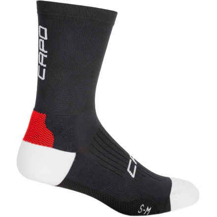 MTB Sadly, not all socks are created equally. And if you've worn a bad pair over the course of a century, you know exactly what we're talking about. Thankfully, though, Capo understands your plight, and accordingly, it created its new Meryl 14 200 Needle Socks. We understand that these socks feature a rather confusing title. So, let us break it down for you. Starting at the beginning, the Meryl stands for the socks' material, Meryl Skinlife. This fabric was chosen for hypoallergenic and bacteriostatic characteristics. By this, we mean that Skinlife has been engineered to maintain the ideal balance of bacteria on the skin. Yes, despite what the chronic handwashers have to say, some bacteria is actually beneficial to our skin's health. Obviously, though, an exceedingly high level of bacteria creates its own set of problems. However, maintaining a natural presence, as Skinlife does, creates the ideal level of biological comfort. Additionally, within this balance, Skinlife prevents the growth of odor-causing bacteria. So, your socks and feet will remain free of stink, even after long, hot days in the saddle. For the '8' in the title, Capo is simply designating the socks 14cm cuff -- very Euro, indeed. And for the '200 Needle,' Capo is telling us that it used a 200-needle machine for the socks' construction. Why so many' Because the more the fibers that you're able to place in one square inch, the finer the fibers that you're able to use. Accordingly, Capo was able to create a dense, conforming fabric knit without sacrificing breathability, softness, or by adding any additional bulk to the socks. As a result, you'll find that these socks are exceedingly durable and supportive, yet highly breathable and quick-drying. The Capo Meryl 14 200 Needle Socks are available in the colors Black and White and in the sizes Small/Medium and Large/X-Large. - $19.95