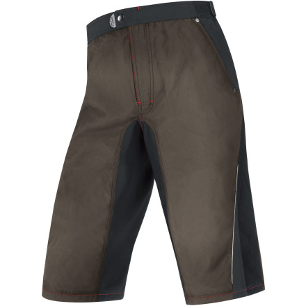 MTB The Gore Bike Wear Fusion Trail Shorts look good covered in dirt. The casual styling and full set of pockets keep things relaxed, while a protective WindStopper membrane makes cool breezes a non-issue. Basically, you'll be set for your next ride, no matter where it takes you. For the construction of the Fusion Trail shorts, Gore chose a proprietary blend of nylon and elastane for its breathability. By pulling sweat from the skin to the surface of the fabric, the Fusion Trail shorts take advantage of evaporative cooling in order keep you dry and comfortable. But, you may be wondering 'Hey, what is evaporative cooling anyway'' Basically, as your sweat evaporates, it causes the temperature of the surrounding air to drop, which keeps your shorts and your skin nice and cool. And to boost the comfort level even further, WindStopper panels are placed selectively throughout the shorts to block wind and to deflect wheel-spray. The Fusion Trail shorts use elastic in the waistband in order to eliminate fabric bunching. As a result, these shorts move freely with you throughout the movements of mountain biking. And to further this concept, Gore employed flatlock stitching throughout the shorts' construction. In terms of fit, you'll find that the Fusion Trail shorts feature a fairly relaxed cut in order to maintain a natural range of motion. Overall, though, you'll find them to be rather similar to Gore's higher-end Alp-X shorts, only the Fusion Trail shorts don't include a removable liner. However, these shorts do incorporate mesh vents on the side of the legs that allow you to dump excess heat. But, for the sake of comparison, the Fusion's vents are fixed, as opposed to the zippered vents of the Alp-X. Additionally, Gore included reflective accents on the sides to increase your visibility to motorists in low-light situations. After all, we all have to ride home sometime. - $95.96