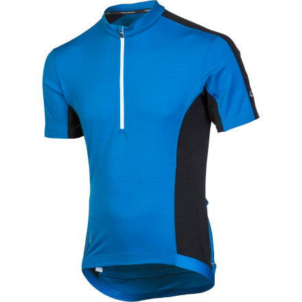 Fitness The Torque jersey was developed by Icebreaker for warm weather riding conditions. Its lightweight merino fabric works perfectly for the hottest days, and it's also versatile enough to double as a layering piece when the temperature starts to fall. The technically advanced features and contoured fit make the Torque an ideal choice for the rider who demands comfort and support, driven by the natural powers of merino wool. The Torque uses a blend of merino wool, nylon, and Lycra to achieve absolute freedom of movement while on the bike. Icebreaker's 200g merino combines the best qualities of traditional wool, synthetics and cotton. Its soft and doesn't itch, its warm in the cold and cool in the heat, and it breathes. People have been drawn to these natural properties of merino for years, and now you receive them built directly into the paneling of your cycling jersey. Additionally, this lightweight merino blend pulls moisture vapor to the surface of the fabric, where it quickly evaporates -- It can absorb up to 30% of its own weight in moisture before you even start to feel wet. And one of the best characteristics of this material is that it naturally resists odor, keeping you dry and fresh much longer than synthetic fabrics. Though certainly not a compression top, the Torque was designed with a contoured fit. The Lycra in the fabric's makeup allows it to hold to your body while in motion, which provides comfort and reduces drag to take some of the edge off a headwind. Shaped raglan sleeves increase comfort and feel more natural than regular sleeves while tucked in the cycling position. Three large back pockets provide plenty of storage, even for an all-day epic, and a pump-specific pocket keeps your pump from flopping around or falling out. Icebreaker also provided the Torque with a zippered media pocket with a headphone cord port, and a half-length front zipper was added for easy ventilation. - $111.96