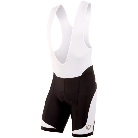 Fitness For the best chance to stay cool over long and hot rides, pull on Pearl Izumi's Elite In-R-Cool Bib Shorts. Izumi's Transfer In-R-Cool fabric is treated with Coldblack, providing the balmy-weather-cooling capacity necessary for long hours of summer riding. Unlike common dark textiles, which absorb heat, Coldblack-treated fabrics are UV-blocking (UPF 50+) and actually reflect the sun's radiant energy. This allows you to avoid overheating during physical activity on hot, sunny days by keeping the surface temperature of the fabric lower. Also keeping you cool is Pearl Izumi's proprietary blend of nylon, elastane, and polyester. This mix results in an engineered outer surface that's textured for enhanced temperature management., Additionally, this breathable knit accelerates moisture transfer away from the skin in order to maintain core comfort. Extra ventilation in the form of direct-vent panels and a mesh upper also provide superior airflow, while ensuring a high level of structure stability that's free from pinching. For long distance comfort, Pearl Izumi spec's its anatomically-shaped, three-layer 3D Elite chamois. This insert's density varies from a maximum of 13mm to a minimum of seven in order to relieve pressure and permit blood flow where it matters most. The pad is covered with a moisture wicking, four-way stretch fabric that adjusts to your body as you pedal. Additionally, it contains active carbon yarns that assist with thermo-regulation and resist bacteria. An eight-panel anatomical design provides a lightly compressive fit that maximizes your muscle efficiency, allowing you to spin with consistent power. It also ensures that the Elite In-R-Cool bib shorts provide the greatest degree of mobility by eliminating restriction. The Pearl Izumi Elite In-R-Cool Bib Shorts are available in five sizes from Small to XX-Large and in the colors Black/white, Black/black, Black/true blue, Black/true red, and Black/screaming yellow. - $134.95