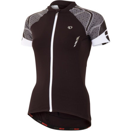 Fitness Pearl Izumi was among the first to offer women's clothing designed by women. And, a quick look at the shape and features crafted into the P.R.O. Leader Women's Short-Sleeve Jersey proves that they indeed have put a lot of know-how and riding time into their creations. Pearl Izumi uses its patented P.R.O. Transfer fabric, the same advanced materials as its men's counterpart, with a feminine fit and spin on appearance. This fabric employs a one-way capillary action and hydrophobic fibers to draw the moisture away from the skin. Dry skin translates into core comfort, and the fibers touching your skin become the first line of defense against discomfort. This is ideal for hot, sunny rides and what also makes this jersey perfect for those conditions is Pearl Izumi's In-R-Cool Technology. This built-in technology reflects the sun's rays and reduces the surface temperature of the fabric by up to 35 degrees Fahrenheit in direct sunlight, so you can sport dark, intense colors without melting down on a sunny ride. Pearl Izumi also included welded Direct-Vent panels under the arms to offer extra ventilation and prevent the accumulation of sweat and odors. Pearl Izumi has specially designed the 3-in-2 back pocket construction, with a nod to the ladies' smaller backs. This includes two pockets that carry big items like your wallet, pump, gel packs and phone, while a third pocket with a zipper is hidden within the two so that you can keep keys and other small essentials safe and separated. Sublimated graphics on the raglan sleeves ensure that the P.R.O. Women's Leader Jersey will look as fresh after a couple of seasons as it does when you first try it on. The usual well-placed Pearl Izumi reflective elements keep you safe in low-light. The Pearl Izumi P.R.O. Women's Leader Short-Sleeve Jersey comes in Black/White, Black/Scuba Blue and Black/Orchid. It is available in X-Small through XX-Large. - $164.95