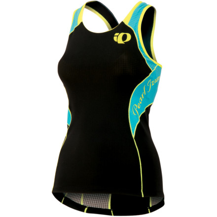 Fitness As you know, not all triathlon apparel is created equal. It's sad, we know. However, unlike most manufacturers, Pearl Izumi understands that a triathlon top needs to perform equally across all three events. And, as a result, it created the Elite In-R-Cool Women's Tri Singlet. Over the shoulders, textured ELITE Aero fabric enhances your aerodynamic profile for maximum efficiency during stage two. And to prevent overheating, Izumi placed its Direct-Vent mesh panels at the back in order to ensure a maximum airflow through the singlet. Additionally, this increases the breathability of the top, meaning that your core temperature is lowered, resulting in a conservation of your oxygen cells. Also assisting with breathability is Pearl Izumi's Elite Transfer fabric over the torso of the singlet. This polyester blend effectively pulls perspiration away from your skin, while still allowing ample breathability and moisture evaporation at the surface. Essentially, this ensures that the singlet dries quickly after a swim, and stays dry during any exhausting land efforts. For storage of your race nutrition, Izumi included two rear pockets. The Pearl Izumi Elite In-R-Cool Women's Tri Singlet is available in five sizes from X-Small to X-Large and in the colors Black/scuba blue, Black/white hex, Cherry Tomato/white, Lime/white, Paradise Pink/white, and Scuba Blue/screaming yellow. - $89.95