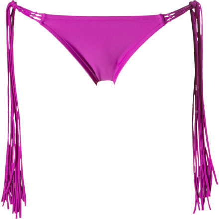 Surf After a long hike, you finally reach the hot spring and change into the Rip Curl Women's Aloha Brazilian Tie Side Bikini Bottom. Fringe tie-side details give you a hip look, while the Aloha's cute bottom offers you just the right amount of skimpy. - $37.95