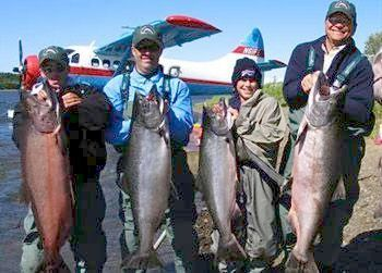 Flyfishing Rainbow King Lodge - since 1973 for jumbo trout and monstrous salmon