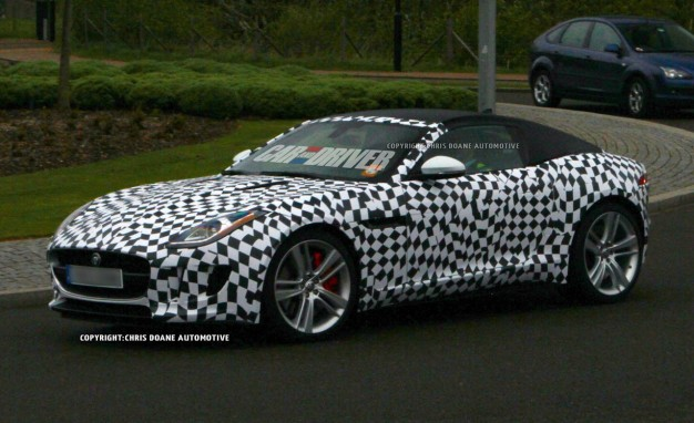 Auto and Cycle 2015 Jaguar F-type Coupe Spy Photos: Same Sexy Sports Car, Different Hat.  Article by Alexander Stoklosa posted May 10, 2013