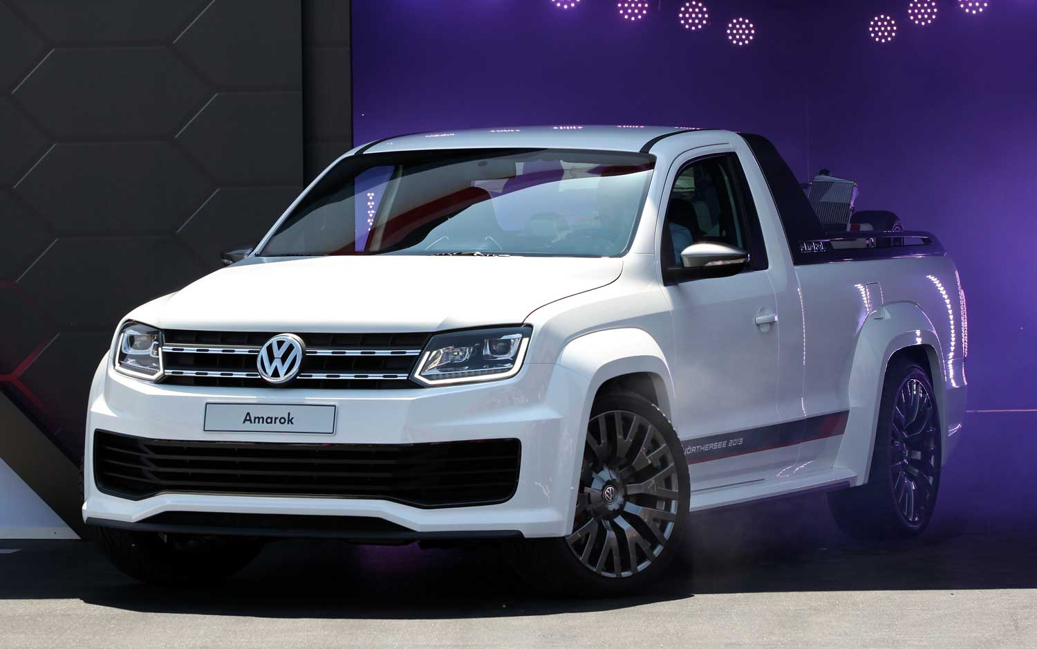 Auto and Cycle Track-Ready Volkswagen Amarok Concept Debuts at Worthersee.  Article by Zach Gale posted May 8, 2013
