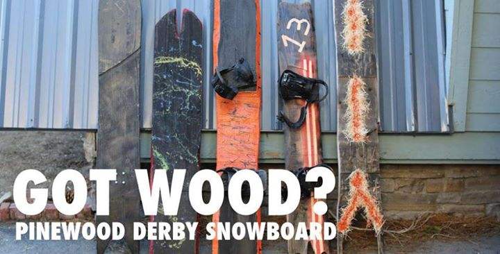 Snowboard Get your Pinewood Derby on with the new Every Third Thursday from Signal Snowboards: http://signalsnowboards.com/ETT.php