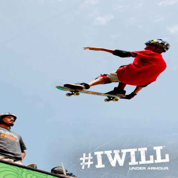 Skateboard Make sure to tune and watch UA athlete Mitchie Brusco tear it up at the X Games Barcelona! #IWILL