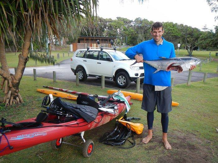 Fishing We came across this story from a kayak fisher in Brisbane, Australia: