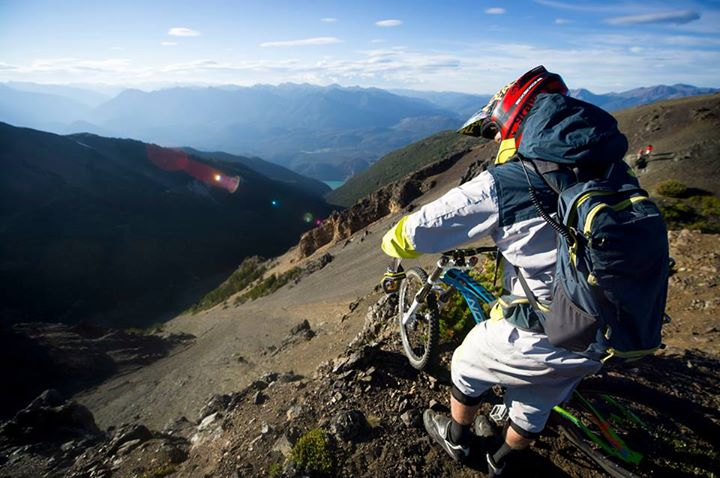 MTB Team rider Mike Hopkins exploring the Bender Range in Bralorne, British Columbia, Canada. Photo: Blake Jorgenson.   Read more about the expedition on our blog: http://bit.ly/10BlxMe  Check out our spring MTB gear @ http://bit.ly/107CLFq