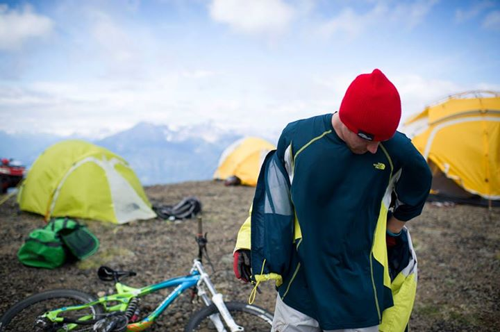 Camp and Hike Team rider Mike Hopkins exploring the Bender Range in Bralorne, British Columbia, Canada. Photo: Blake Jorgenson.   Read more about the expedition on our blog: http://bit.ly/10BlxMe  Check out our spring MTB gear @ http://bit.ly/107CLFq