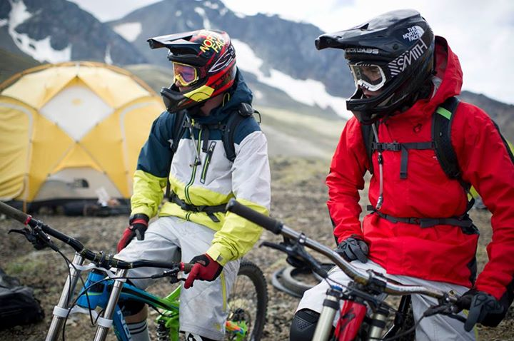 MTB Mike Hopkins and Matt Miles exploring the Bender Range in Bralorne, British Columbia, Canada. Photo: Blake Jorgenson.   Read more about the expedition on our blog: http://bit.ly/10BlxMe  Check out our spring MTB gear @ http://bit.ly/107CLFq