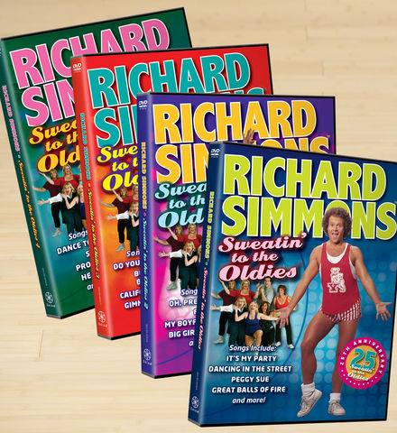 Fitness Richard Simmons Sweatin' to the Oldies DVD Set  Shop now: http://bit.ly/13zHSyZ  Use code SMSMAYSAVINGS at checkout and save $20 off $100 or $50 off $200.