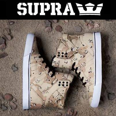 Skateboard What do you think of the desert camo from Supra Footwear? http://zumiez.me/16D4YrD