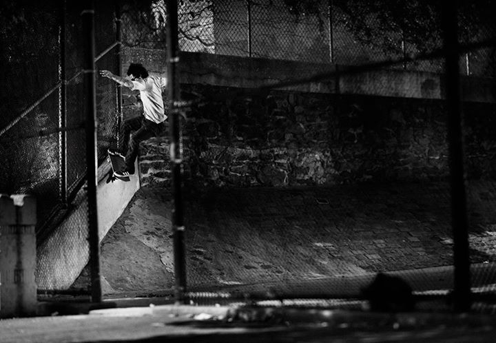 Skateboard Vince Del Valle~Smith grind ~ NYC ~ Photo:Sem Rubio