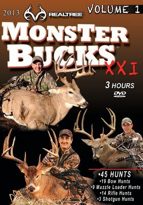 Hunting Both volumes I and II of the Team Realtree Monster Bucks 21 DVDs boast hours of wild whitetail action. Available: Volume I - Watch as TeamRealtree takes you on 45 hunts for the biggest whitetails. 180 minutes. DVD. Volume II - Continuing the hunt for trophy whitetails, Team Realtree goes on 45 hunts from the Midwest to the South. 180 minutes. DVD. - $7.88