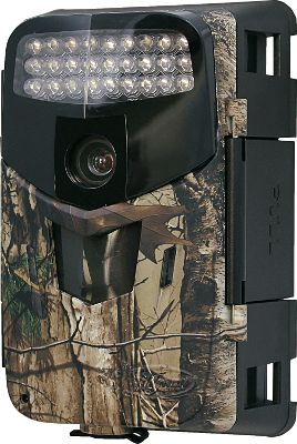 Hunting The Wildgame Innovations Micro Crash Cam 10 Scouting Camera is a high-performance, low-profile unit equipped with 27 infrared LEDs and a 10MPcamera to capture crisp images both day and night. The wide-angle 16:9 lens is ideal for tight spaces, and Redux anti-blur technology produces sharp, focused pictures. Day- and nighttime video modes provide capture the habits of your future trophy. Flextime+ time-lapse mode delivers all-day recon in a short video presentation. 75-ft. infrared LED range. Requires up to 32 GB SD card (not included) and eight AA batteries (not included).Camo pattern: Realtree XTRA. Type: Infrared. - $139.88