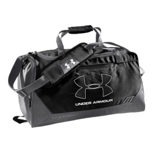 "Entertainment UA Storm gear uses a DWR finish to repel water without sacrificing breathabilityAdjustable, padded shoulder strap with HeatGear(R) for total comfort2 large vented end pockets, 1 expandable for laundry and shoesDimensions: 20"" x 11"" x 10""Cubic Volume: 2250600D Polyester With Abrasion-Resistant BottomImported - $29.99"