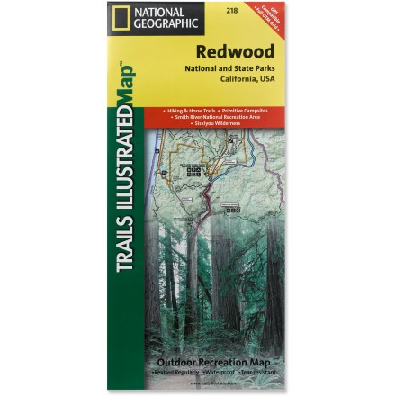 Camp and Hike This National Geographic Trails Illustrated folded map offers comprehensive coverage of California's Redwood National Park. - $11.95