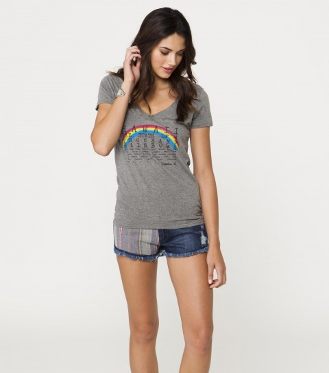 Surf O'Neill Rainbows Tee.  100% Cotton.  Screenprint. - $26.00